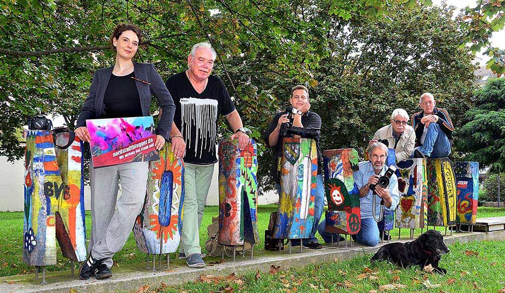Ein Gruppenfoto der Nordstadtblogger – leider bekommt man nie alle gemeinsam auf ein Bild. Foto: Günter Schmitz