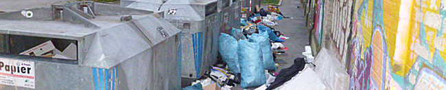 Wilde Müllkippe in der Nordstadt