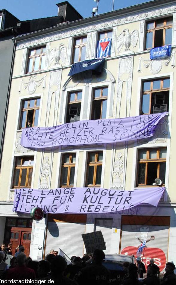 Langer August - Protest gegen pro Deutschland