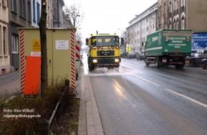 Verstärkte Straßenreinigung soll den Feinstaub binden
