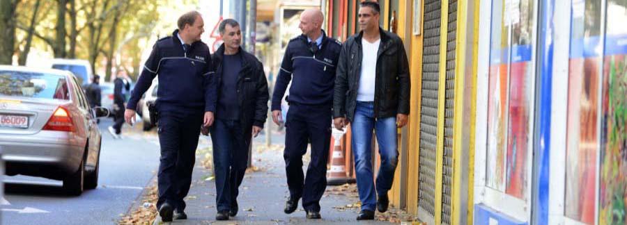 Bulgarische und deutsche Polizisten arbeiten in der Nordstadt zusammen.