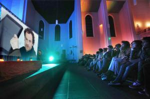 Den vergangenen Dortmund-Tatort sahen 250 Leute in der Pauluskirche an der Schützenstraße. Foto: Oliver Schaper/Kulturkirche