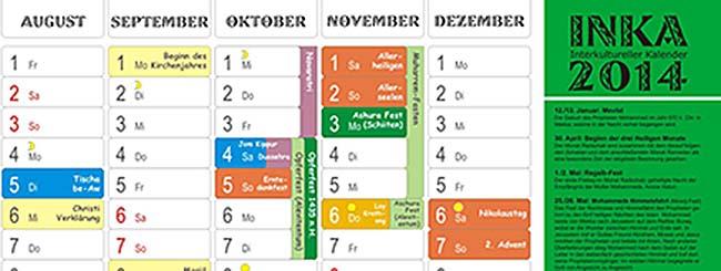 Interkultureller Kalender für 2014 erschienen
