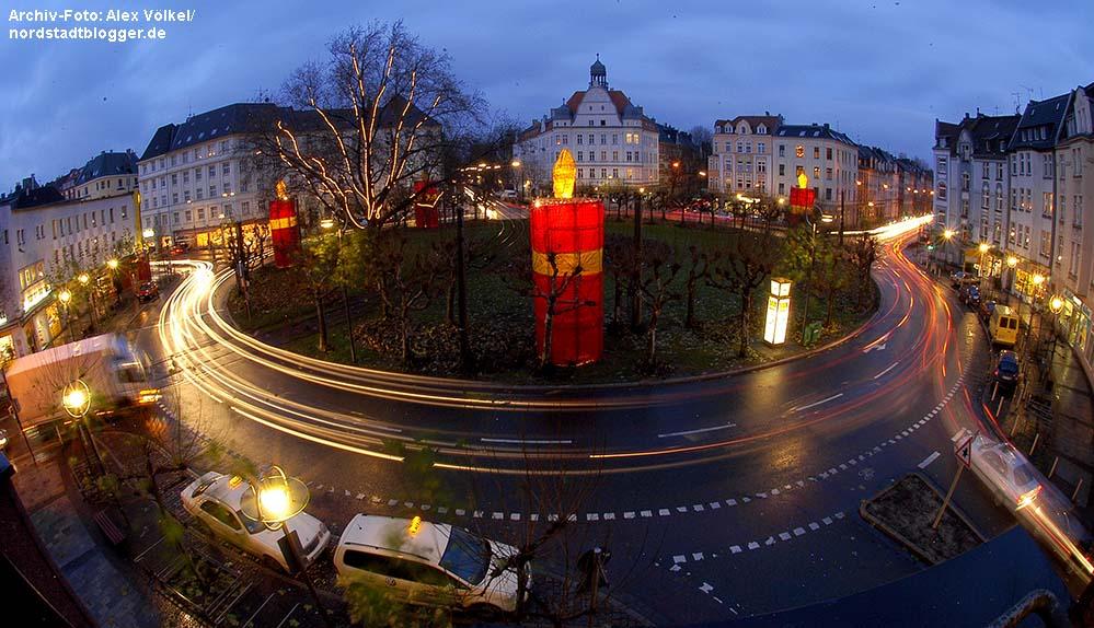 Der Borsigplatz als Adventskranz