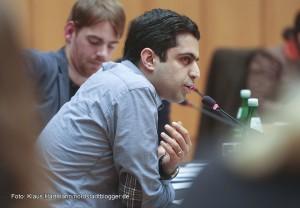 Podiumsgespräch im Ratsaal zum Thema: Neuzugewanderte Roma aus Bulgarien und Rumänien. Ali Sirin, Planerladen