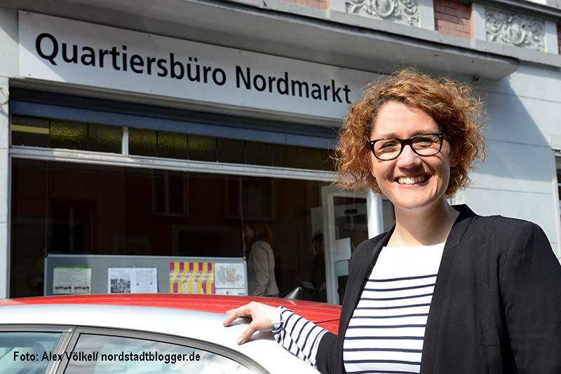 Quartiersmanagement Nordstadt hat eine neue Mitarbeiterin: Jana Heger ist die neue Quartiersmanagerin für den Nordmarkt