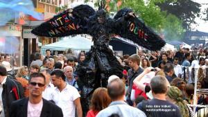Das Münsterstraßenfest ist zentraler Bestandteil der Internationale Woche. Archivbild: Alex Völkel