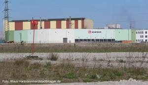 Westfalenhütte, erster Bauabschnitt Garbe-Logistik für Schenker