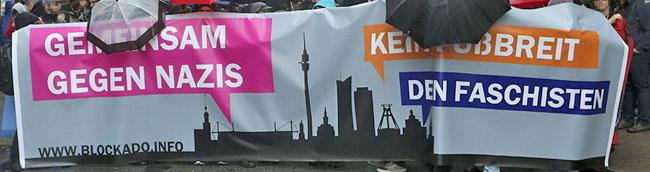 Gemeinsam gegen Rechts: Demonstration des Bündnisses BlockaDo mit gut 400 Teilnehmern zog durch die Nordstadt