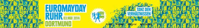 500 Teilnehmerinnen und Teilnehmer kamen zum alternativen Euromayday Ruhr durch die Nordstadt