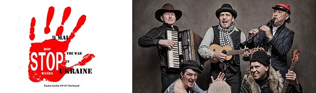 HopStopBanda: Balkan-Beat, Gypsy-Boogie, Gangster-Swing & Soviet-Tango – Friedenskonzert gegen Krieg in der Ukraine
