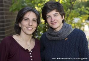 Italienverein im Depot. Irene Gallerani und Jenny Eimer v. l.