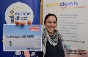 Eurodesk informiert und berät Jugendliche kostenlos und neutral über Möglichkeiten, ins Ausland zu gehen.