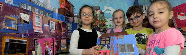 Kita-Kinder erkunden den Borsigplatz – und bauen ihn nach