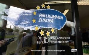 """Die Beratungsstelle """"Willkommen Europa"""" in der Bornstraße 64."""