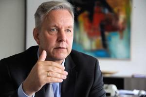 Interview mit Polizeipräsident Gregor Lange. Foto: Franz Luthe