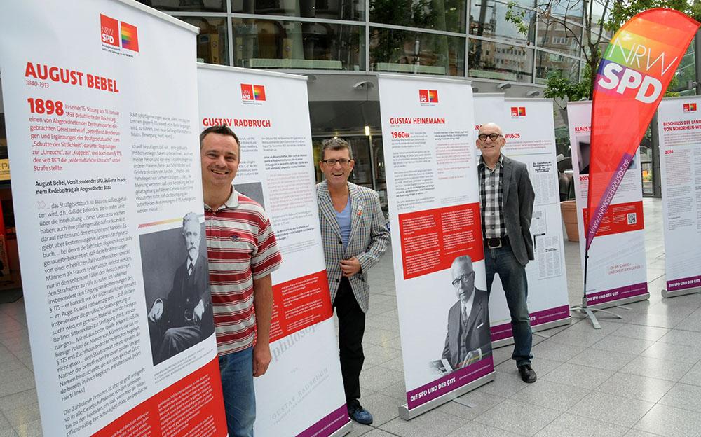 In der Berswordthalle ist die Ausstellung zum § 175 zu sehen. Foto: Alex Völkel