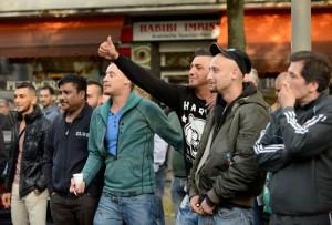 Migranten machten den Neonazis lautstark deutlich, dass sie in der Nordstadt nicht willkommen sind.