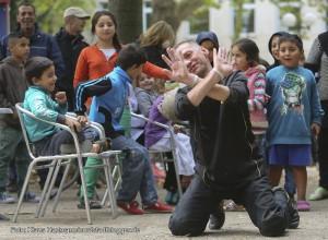 Musik. Kultur. Picknick. Auf dem Nordmarkt 2014, Auftaktveranstaltung. Tanzeinlage vor der Bühne