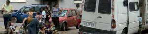 Roma aus Frankreich kommen in der Mallinckrodtstraße an.