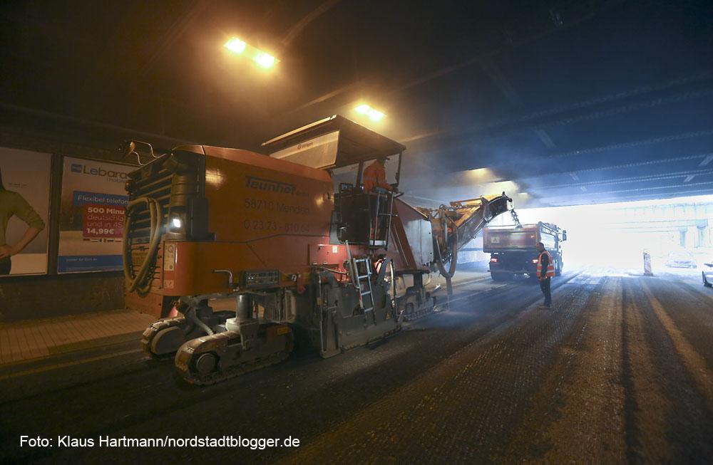 Fahrbahnerneuerung der Unterführung Brinkhoffstraße