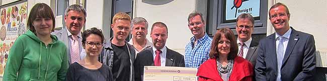 Engagement für den Stadtteil: Stiftung spendet 7.000 Euro an Nachbarschaftsinitiative Borsig11
