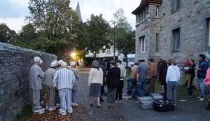 Dreharbeiten auf der Wewelsburg
