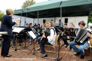 Das Akkordeonorchester der Musikschule Dortmund unter der Leitung von Monika Lempart.