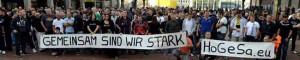 """Treffen der Gruppe """"Hooligans gegen Salafisten"""" in Dortmund."""