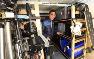 Mario Azahaf (26) ist angehender Veranstaltungstechniker, Helfer und Komparse.