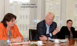 Diane Jäger, Ullrich Sierau und Birgit Zoerner informierten über die Entwicklungen.