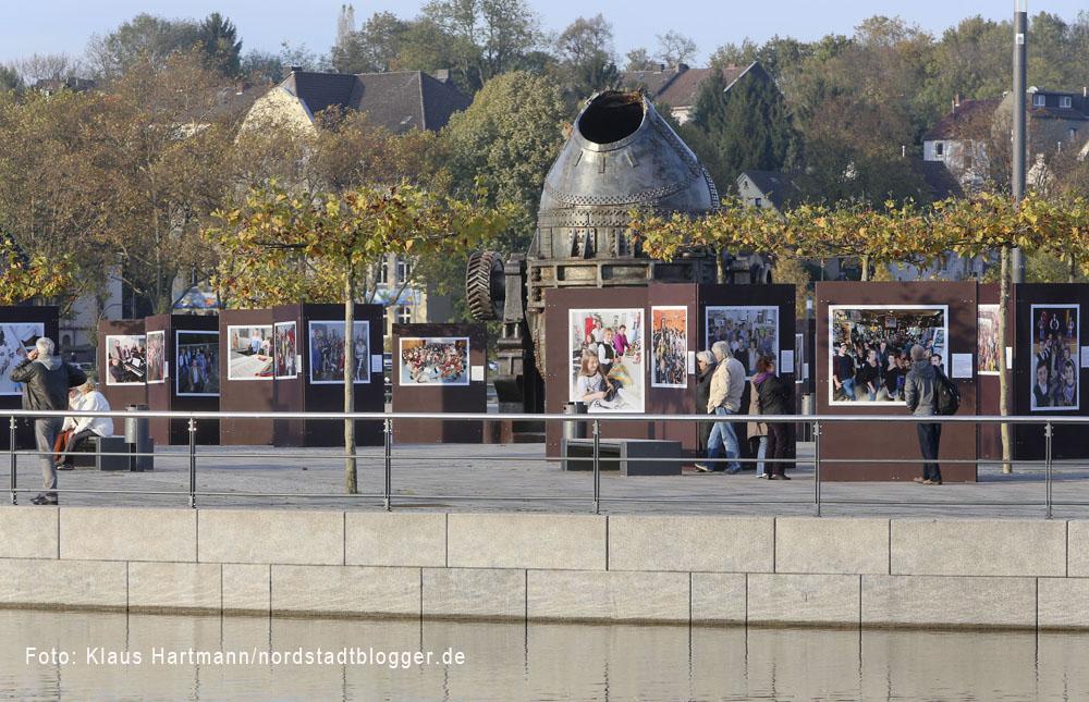 """Ausstellung """"Wir: Echt Nordstadt!"""" auf der Kulturinsel im Phoenix-See Dortmund-Hörde"""