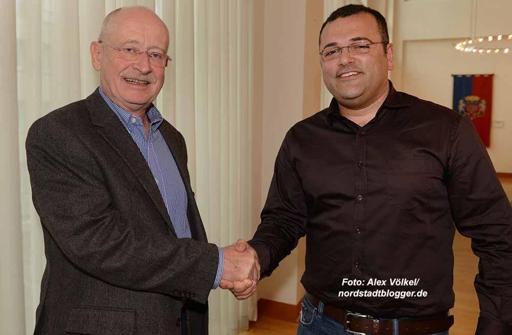 Das neue Führungsduo der Bezirksvertretung: Ludwig Jörder und Cüneyt Karadas.