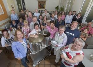 Von Ehrenamtlichen wird die Arbeit der Kan-Suppenküche getragen - sie sind auf Spenden angewiesen.
