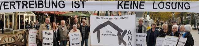 Forderung: Auch Arme und Obdachlose haben das Recht auf einen Platz in der Mitte der Dortmunder Gesellschaft