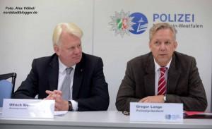 OB Ullrich Sierau und Polizeipräsident Gregor Lange.