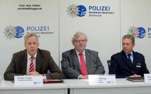 Polizeipräsident Gregor Lange, sein Stellvertreter Ingolf Möhring und Polizeidirektor Dieter Keil.