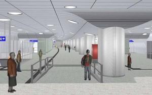 So soll künftig die Verteilerebene der Fußgängeranlage am Königswall aussehen.