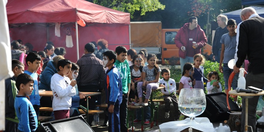 Erstmals fand das Familien- und Spielfest an der Düppelstraße statt. Fotos: Wolf-Dieter Blank