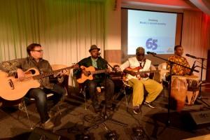 Auch das Musikprogramm beim Festakt war  - wie die Gäste - international.