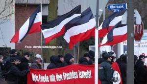 Israel ist regelmäßig Thema: Hier bei einer Demo der autonomen Nationalisten 28.03.2009 in Dorstfeld.