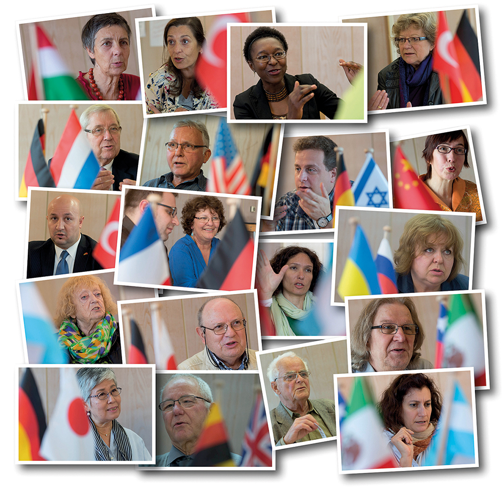 Mitglieder der Auslandsgesellschaft werben für Völkerverständigung und Toleranz. Fotos: Klaus Hartmann