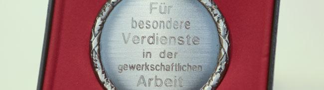 DGB zeichnet Aktive mit der Alfred-Gundlach-Medaille aus