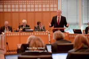Kämmerer Jörg Stüdemann brachte den Haushalt im Rat ein.