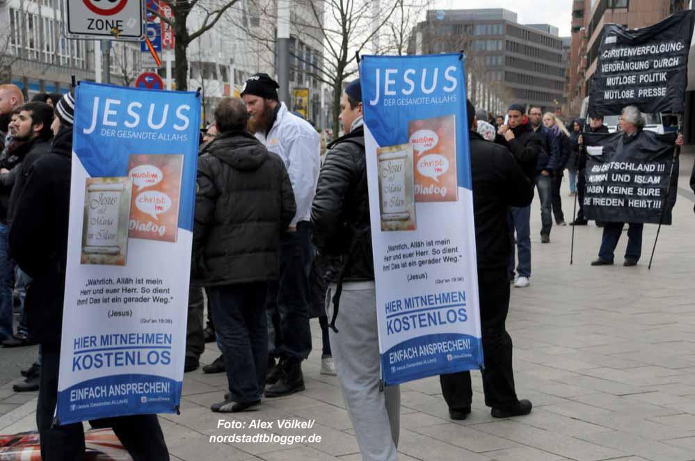 Salafisten-Demonstration in Dortmund