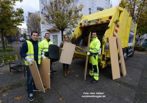 Quartiersmanagement und EDG haben am Samstag eine Abholaktion gemacht.