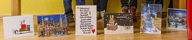 """Aktion für das """"Bunte Haus"""" in der Nordstadt: Originelle Weihnachtskarten für den Kinderschutz"""