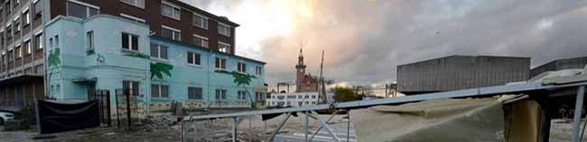 """Statt großer Träume von """"Docklands Dortmund"""" kommt nun eine kleinteilige Entwicklung der Speicherstraße im Hafen"""