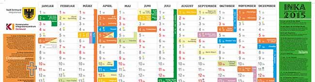 Interkultureller Kalender 2015 ist kostenlos erhältlich