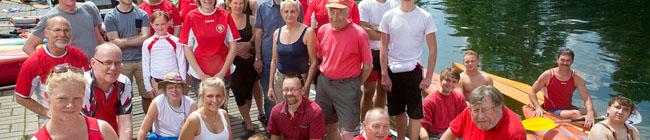 Kanuabteilung des FS 98:  Wanderfahrer und Leistungssportler lassen ihre Kanus in den Dortmund-Ems-Kanal